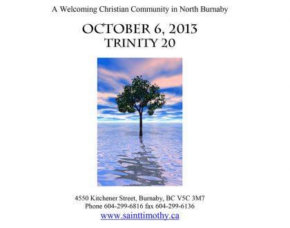 Bulletin: October 6, 2013