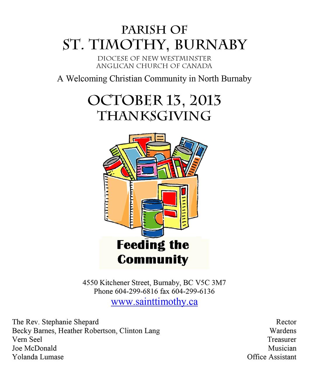 Bulletin: October 13, 2013