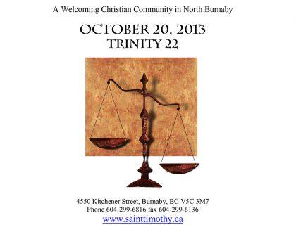 Bulletin: October 20, 2013