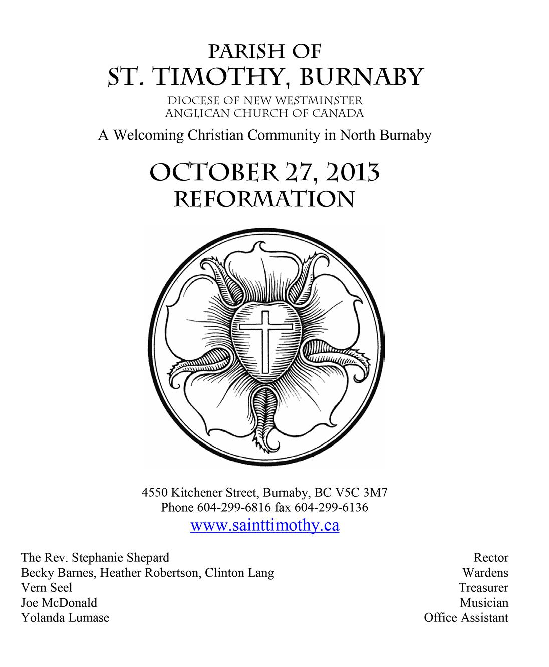 Bulletin: October 27, 2013