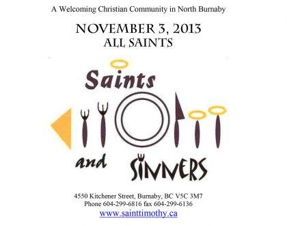 Bulletin: November 3, 2013