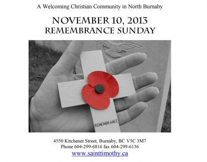 Bulletin: November 10, 2013