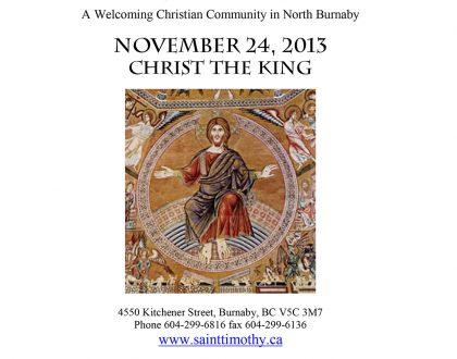 Bulletin: November 24, 2013