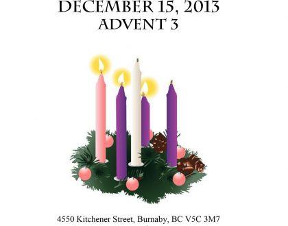 Bulletin: December 15, 2013