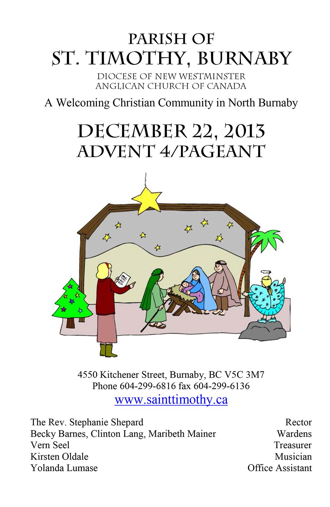 Bulletin: December 22, 2013