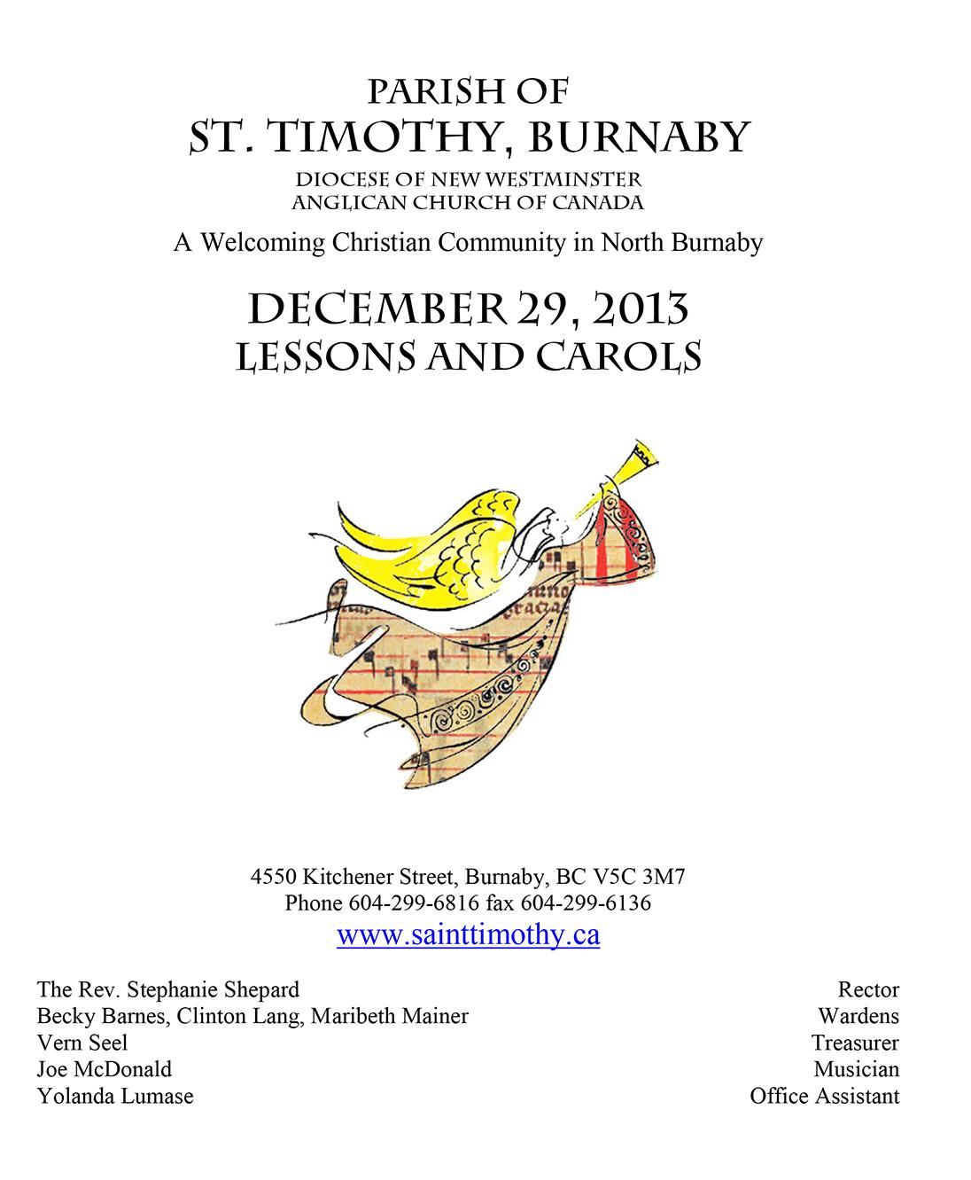 Bulletin: December 29, 2013