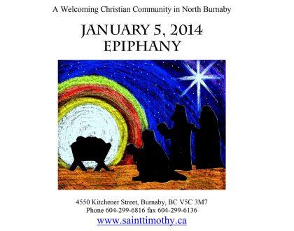 Bulletin: January 5, 2014