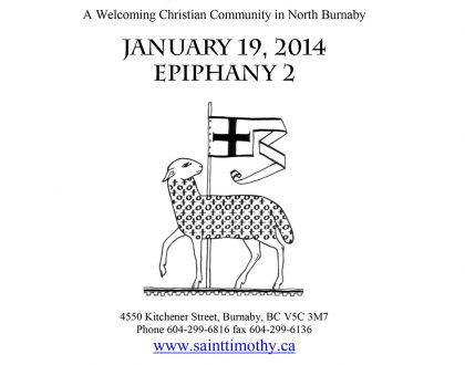 Bulletin: January 19, 2014