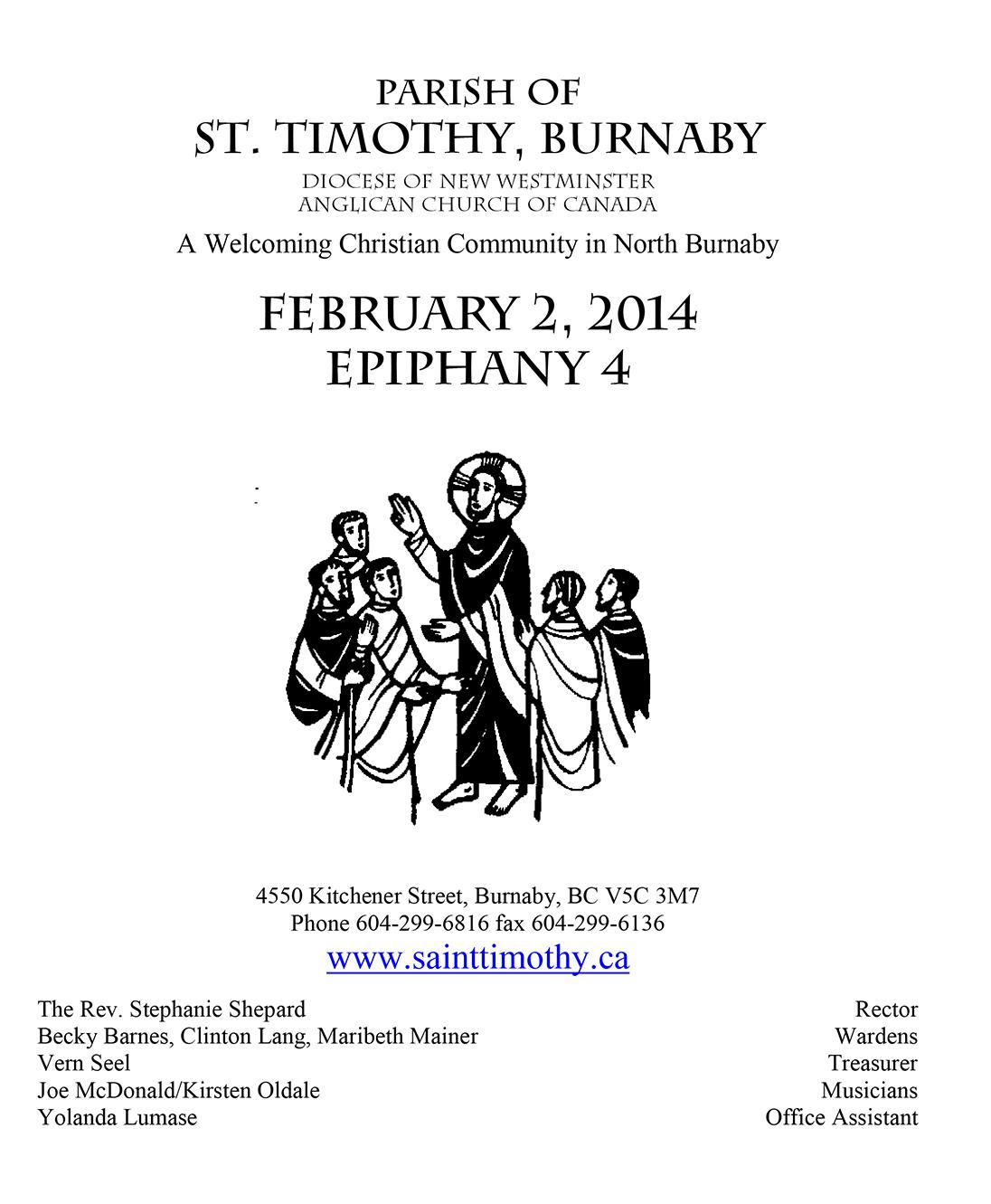 Bulletin: February 2, 2014
