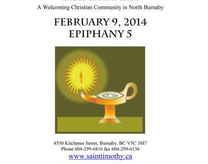 Bulletin: February 9, 2014