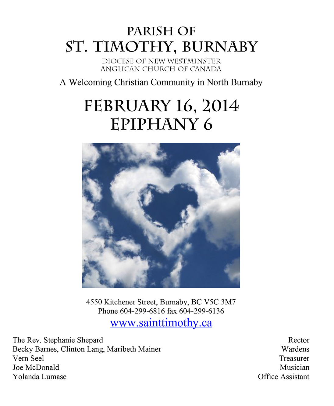Bulletin: February 16, 2014