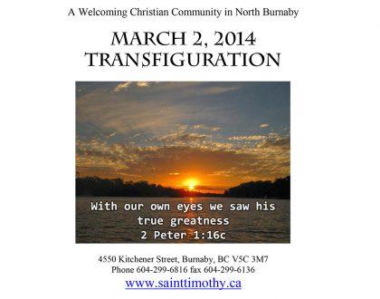 Bulletin: March 2, 2014