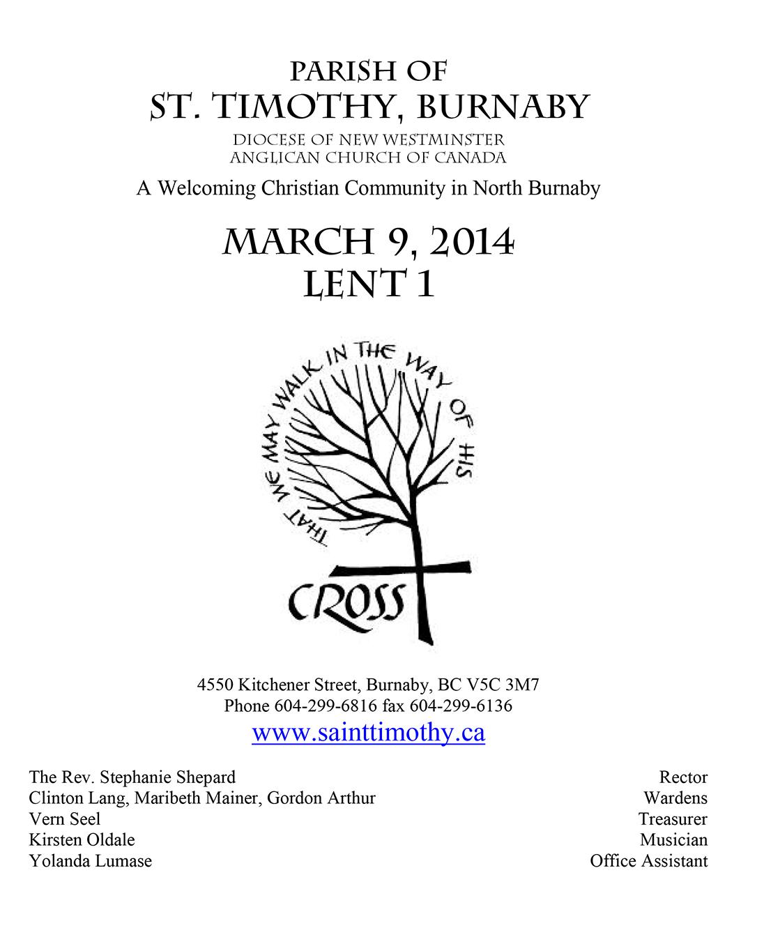 Bulletin: March 9, 2014