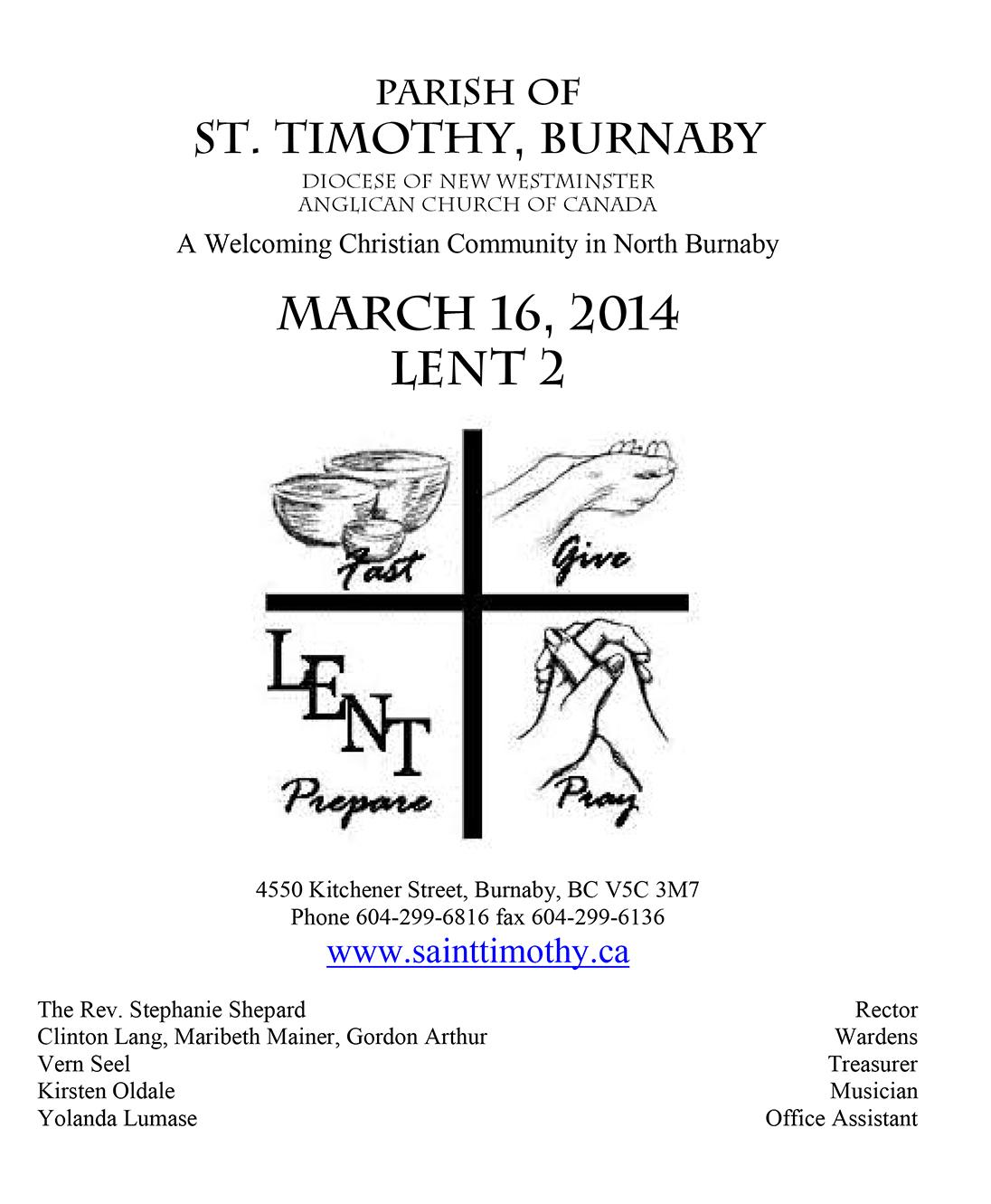 Bulletin: March 16, 2014