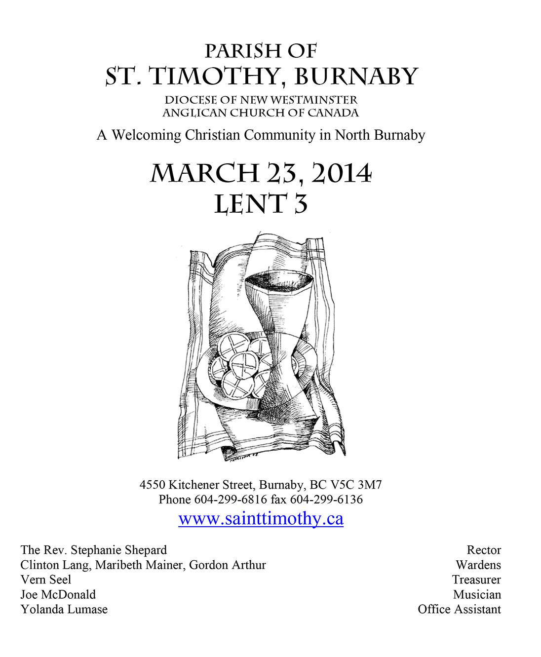 Bulletin: March 23, 2014