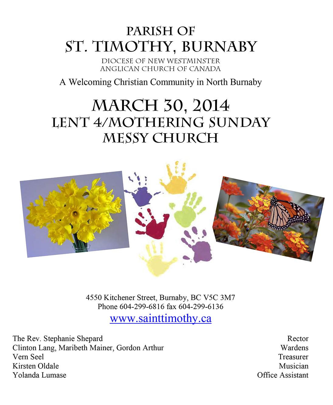 Bulletin: March 30, 2014