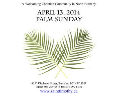 Bulletin: April 13, 2014