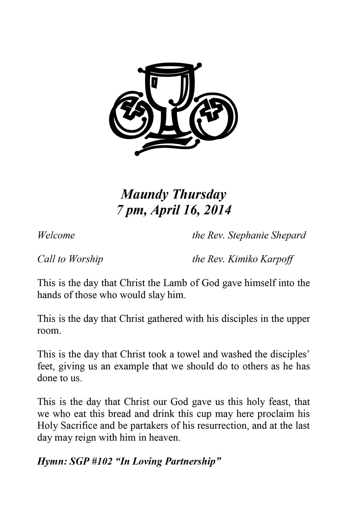 Bulletin: April 17, 2014