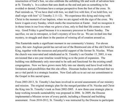 Newsletter: Easter 2014