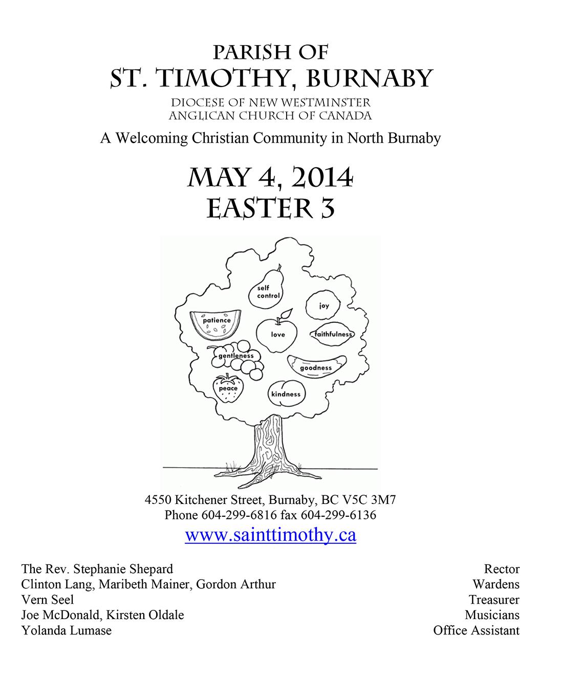 Bulletin: May 4, 2014