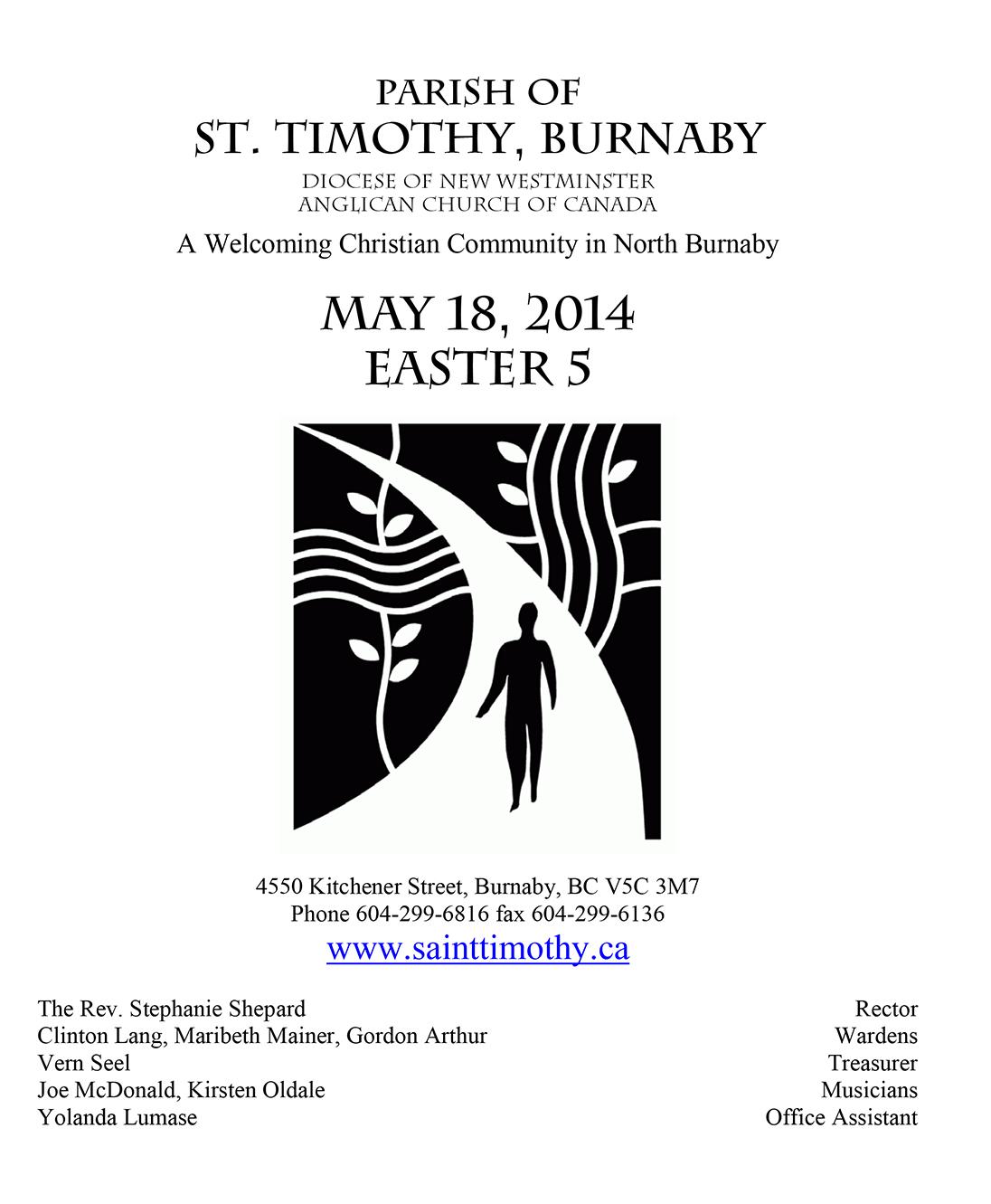 Bulletin: May 18, 2014