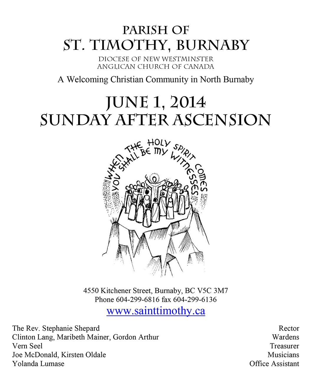 Bulletin: June 1, 2014