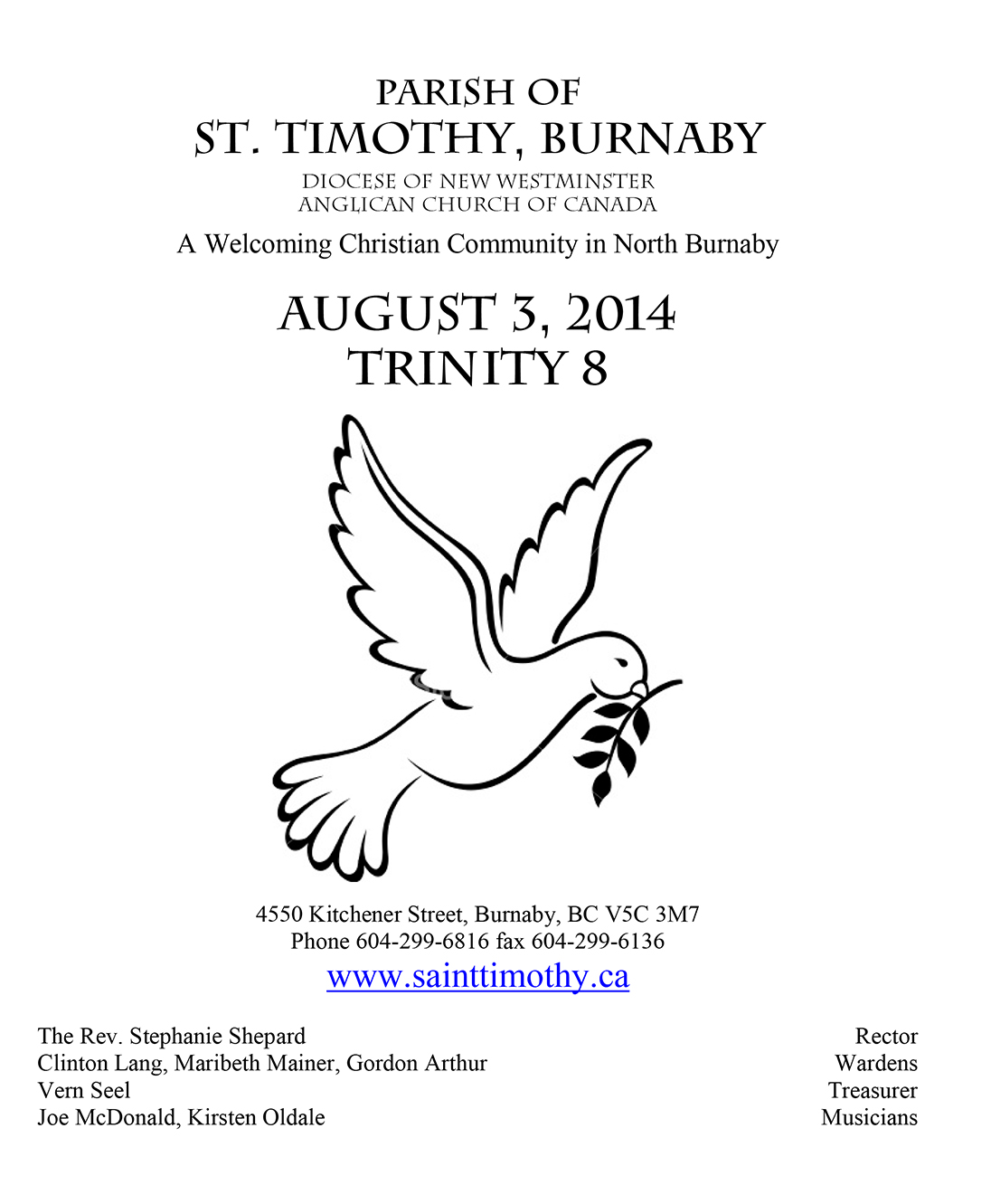 Bulletin: August 3, 2014