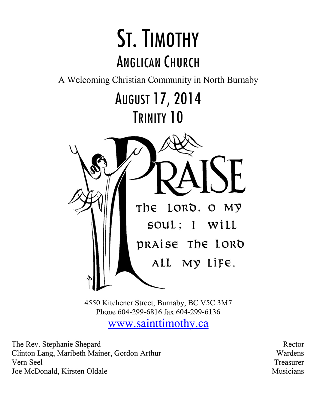 Bulletin: August 17, 2014