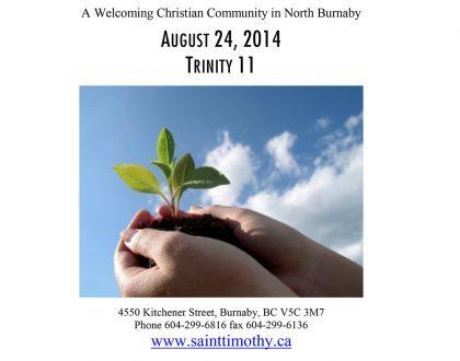 Bulletin: August 24, 2014