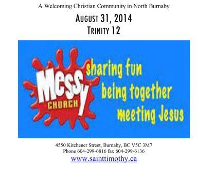 Bulletin: August 31, 2014