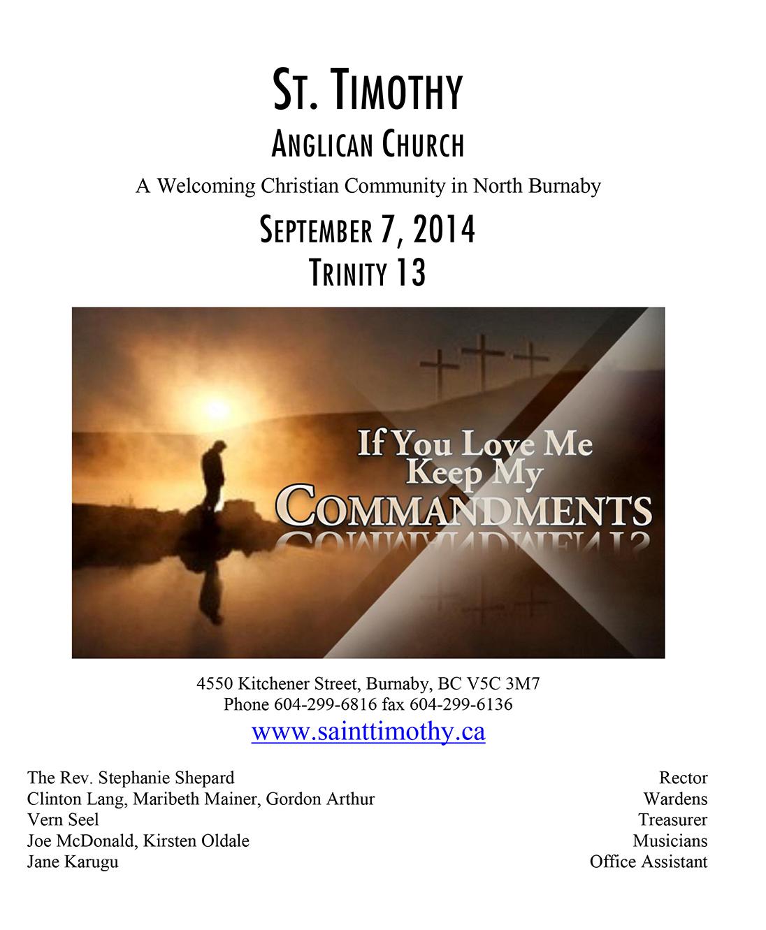 Bulletin: September 7, 2014