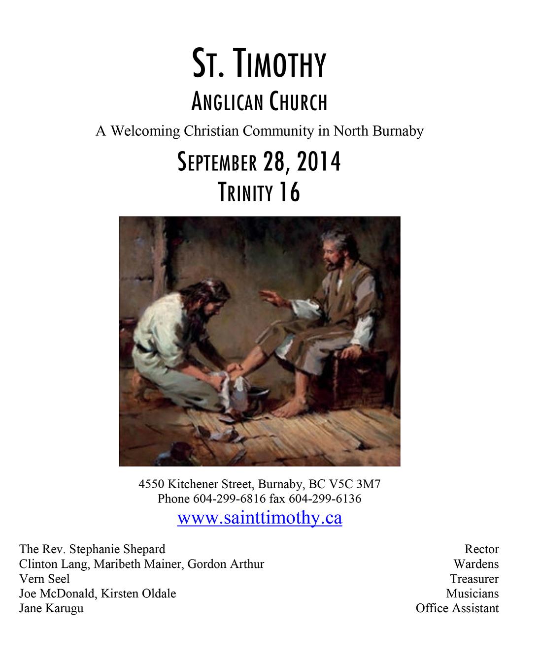 Bulletin: September 28, 2014