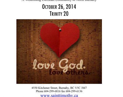 Bulletin: October 26, 2014