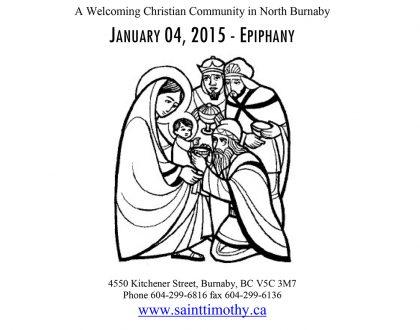 Bulletin: January 4, 2015