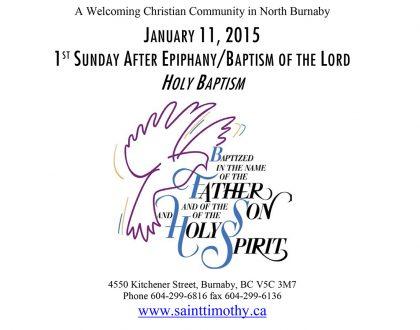 Bulletin: January 11, 2015