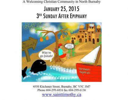 Bulletin: January 25, 2015