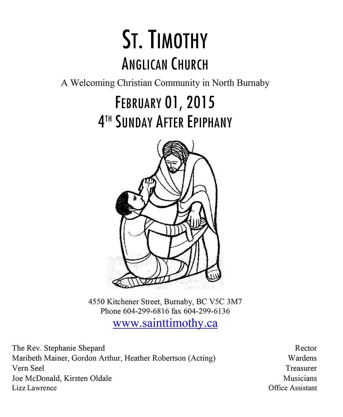 Bulletin: February 1, 2015