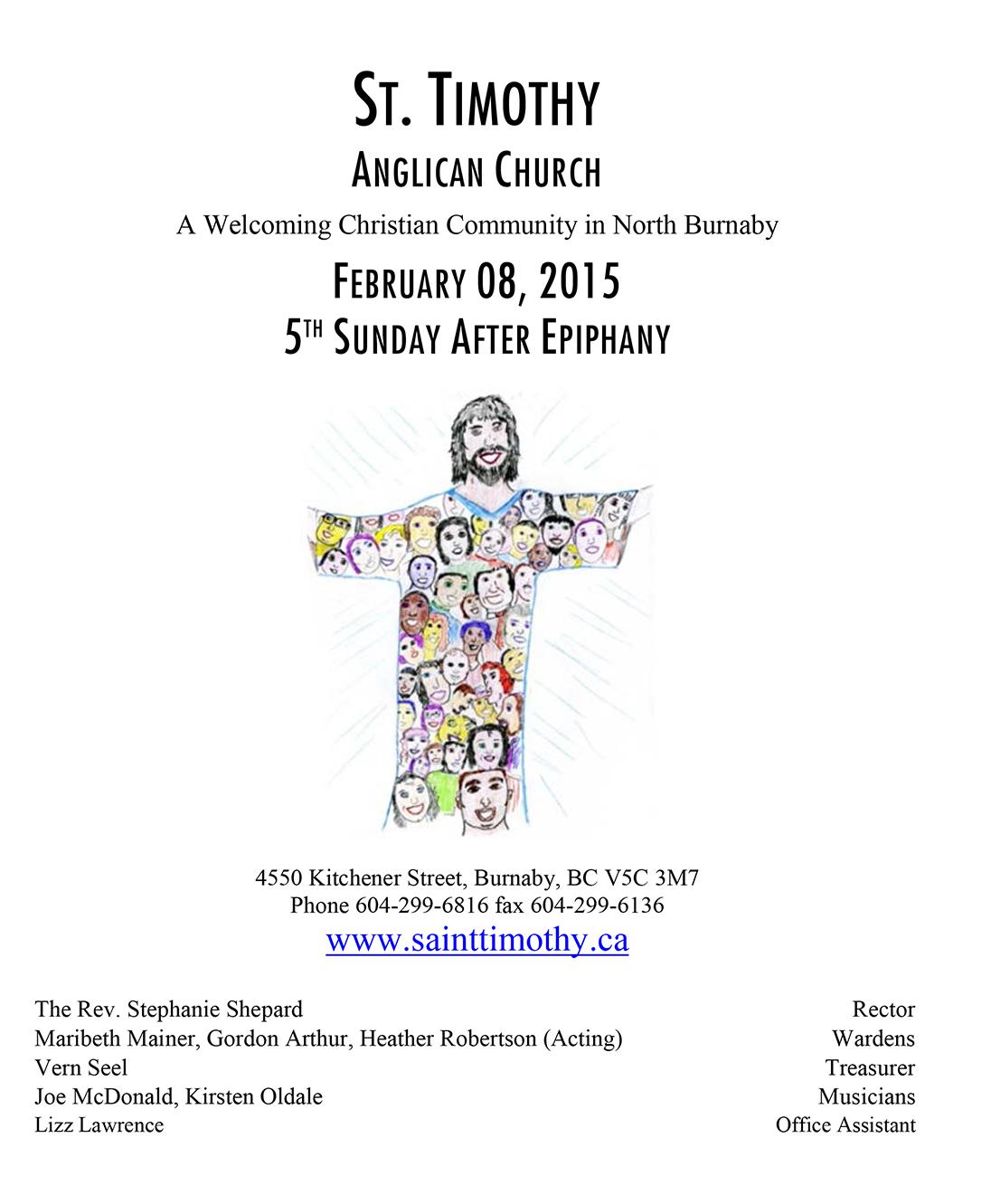 Bulletin: February 8, 2015
