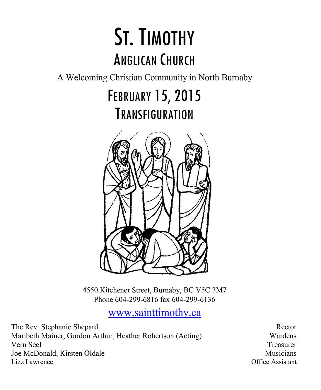 Bulletin: February 15, 2015