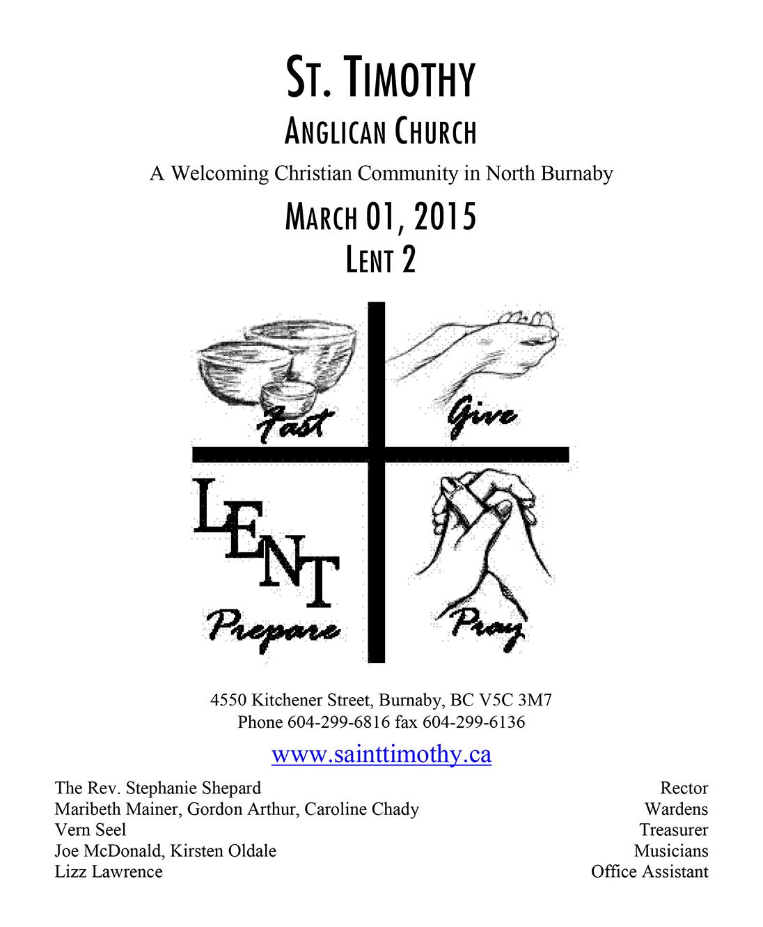 Bulletin: March 1, 2015