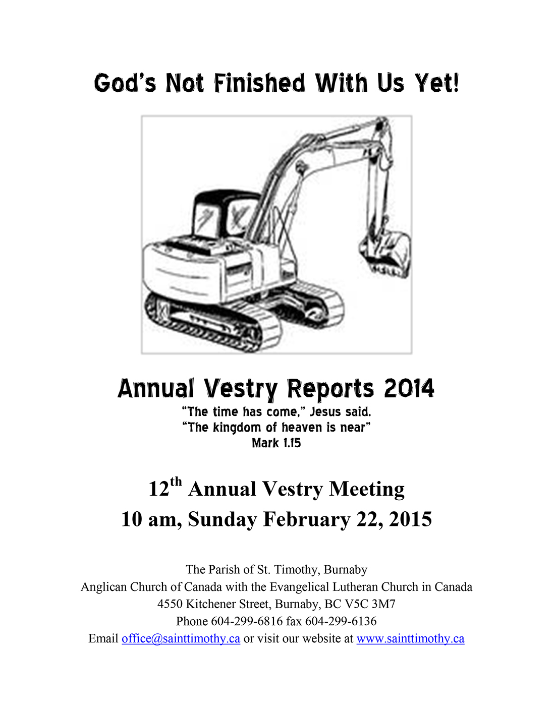 Vestry Reports for 2014