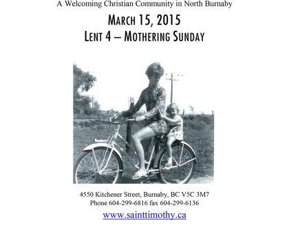 Bulletin: March 15, 2015