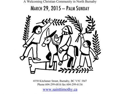 Bulletin: March 29, 2015