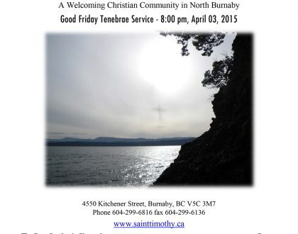 Bulletin: April 3, 2015 (Good Friday)