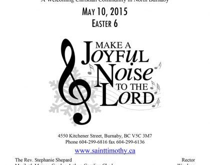 Bulletin: May 10, 2015