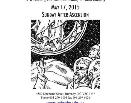 Bulletin: May 17, 2015