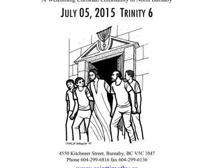 Bulletin: July 5, 2015