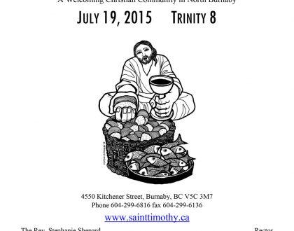 Bulletin: July 19, 2015