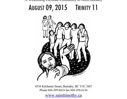 Bulletin: August 9, 2015
