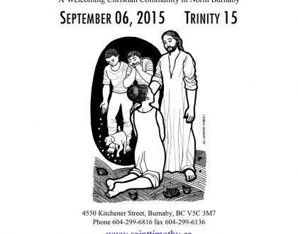 Bulletin: September 6, 2015